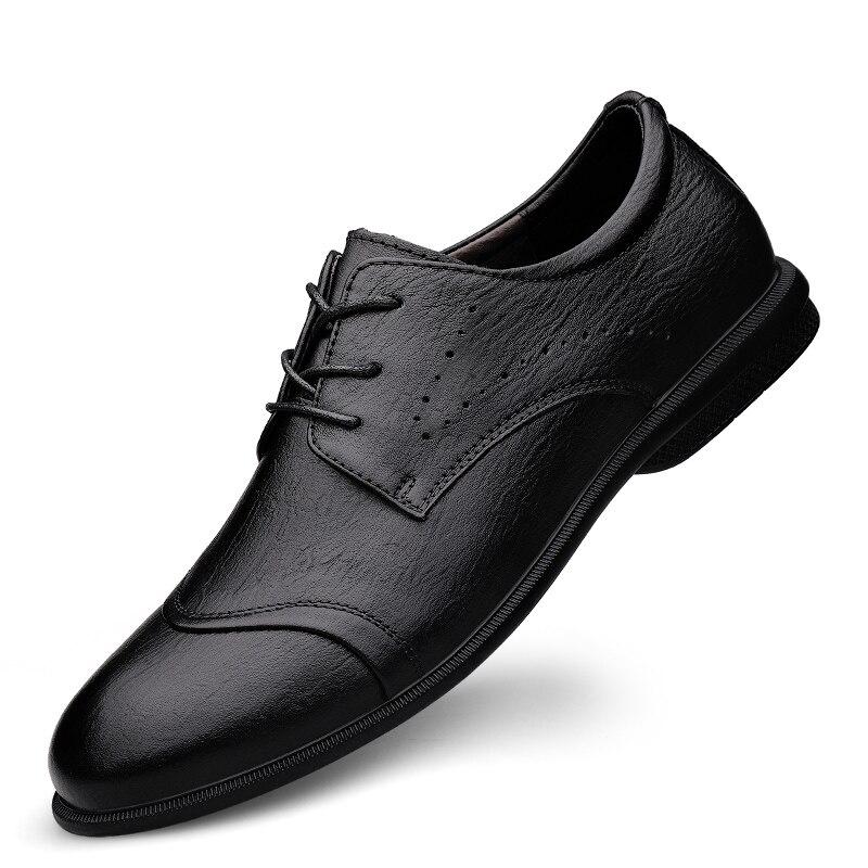 Деловые классические туфли в британском ретро стиле, брендовые деловые кожаные туфли на плоской подошве, мужские оксфорды из натуральной кожи