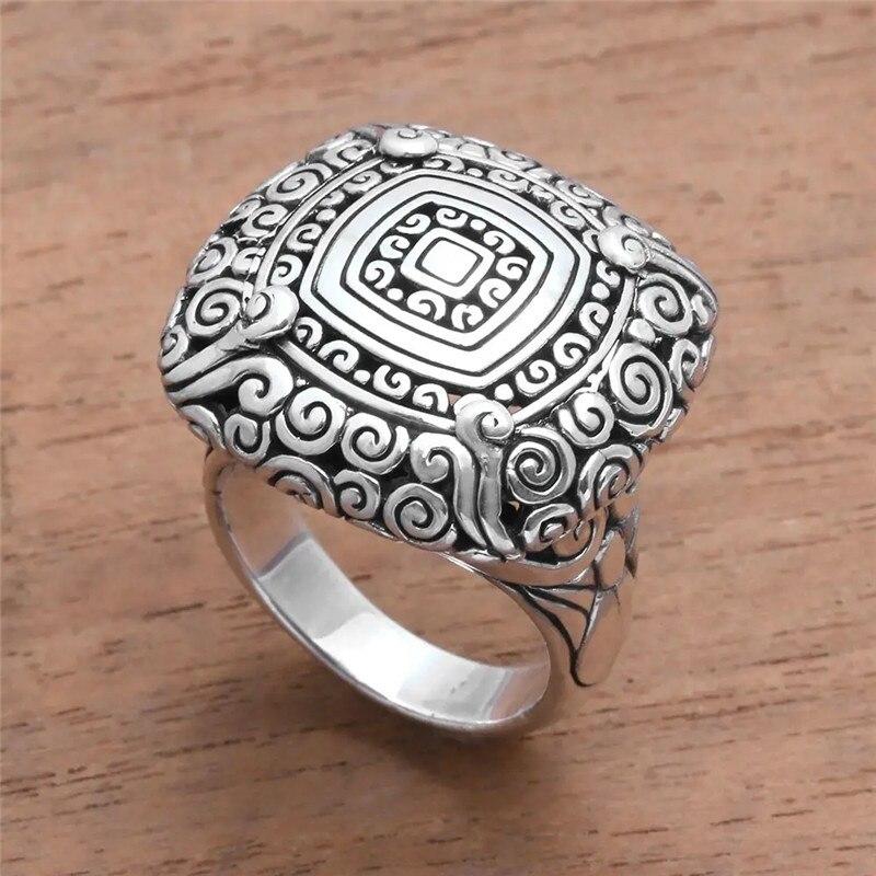 Fdlk moda estilo retro feminino anel de liga de zinco para criar um palácio padrão anel de festa de casamento jóias