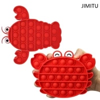 jimitu fidget toy antistress pop dimple bubble fidjet toy needs high quality silicone squishy crab lobster children gifts