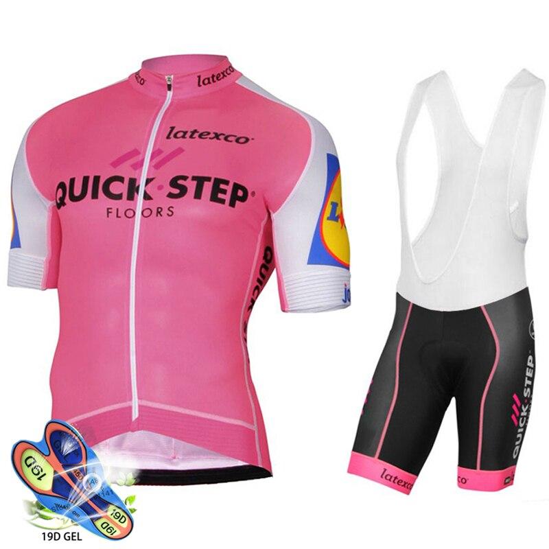 TEAM QUICKSTEP-Camiseta de Ciclismo profesional para mujer, pantalones cortos de Gel 19D,...