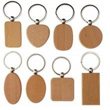Porte-clés porte-clés en bois   Étiquette vierge pour lidentification des chiens, porte-clés personnalisés, Logo gravé personnalisé, nom didentification, 100 pièces, vente en gros