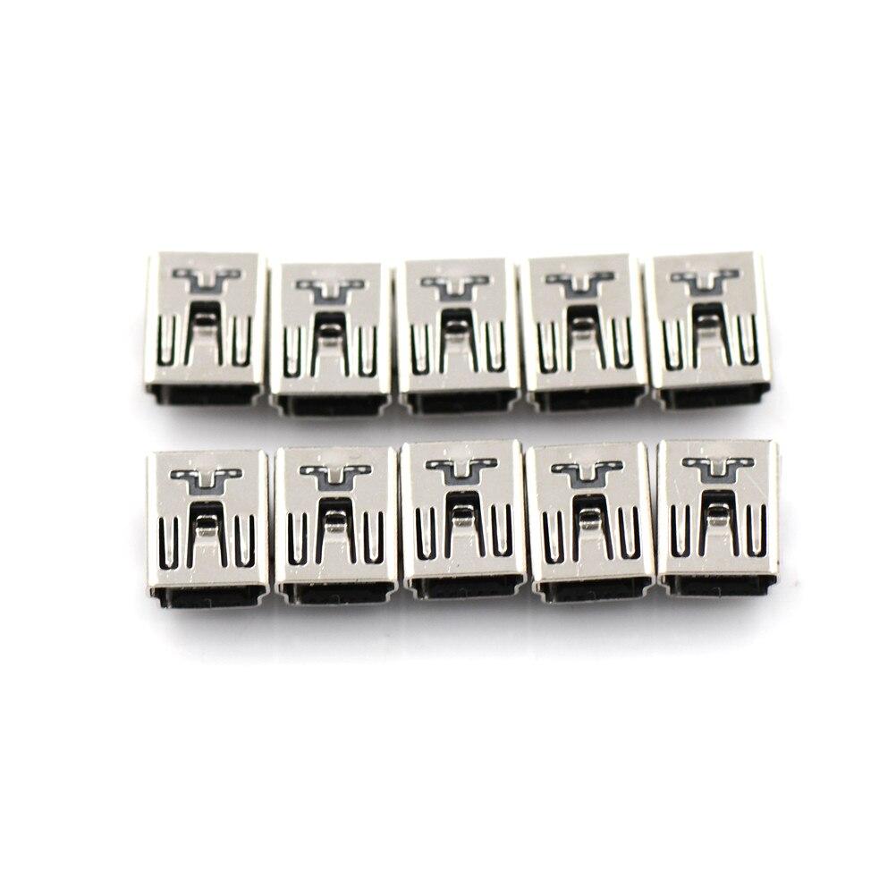 10 шт. Новый мини USB разъем 90 градусов спереди 2 фута 5 PIN Micro USB разъем для Мобильный телефон Micro USB порт Sockect