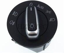 5ND941431B krom otomatik ön far sis lambası VW için anahtar Tiguan Golf MK6 VI 6 Jetta MK5 V Passat B6 B7 5ND 941 431 B 3C8941431A