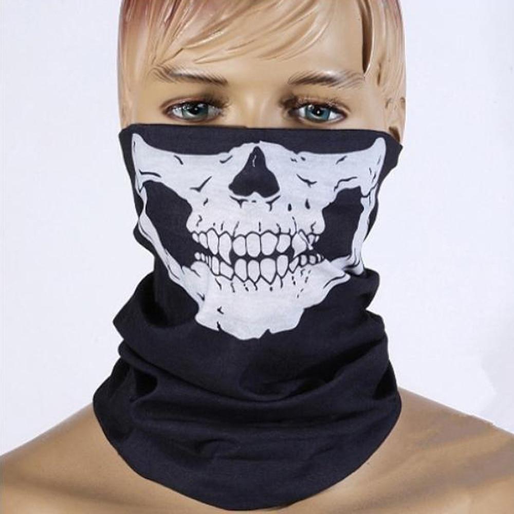 Экспресс Бесплатная доставка 100 шт/партия Скелет Череп бесшовная бандана многофункциональный платок на голову велосипедная повязка на голову Хэллоуин