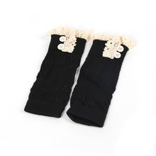 European American Fashion Comfortable Kids Baby Girl Crochet Knitted Lace Boot Cuffs Toppers Leg War