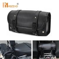 universal motorcycle saddlebag model side pu leather luggage saddle bag retro locomotive bag storage tool pouch