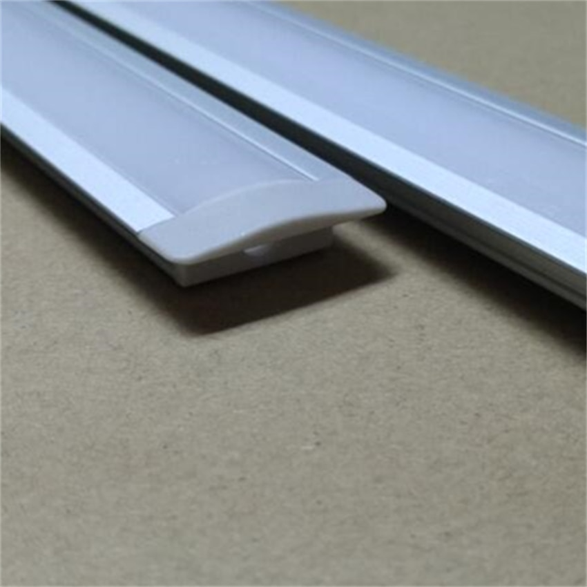 Free Shipping Customized Recessed Aluminum Profile with Diffuser for LED Strip Light  Cabinet enlarge
