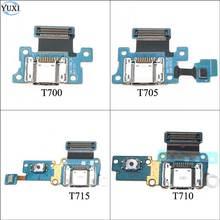 YuXi muelle de carga USB Flex Cable para Samsung Galaxy Tab S 8,4 T700 T705 T710 T715 SM-T700 SM-T705 del puerto del cargador conector de placa