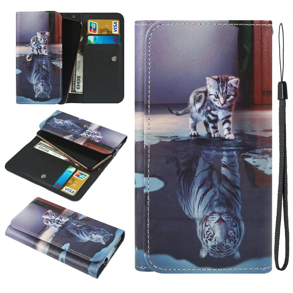 Para Samsung Galaxy S10 S20 Xcover Ultra Lite más Santin P1 Sharp Aquos R5G Sony Xperia 1 10 L4 II cartera teléfono caso