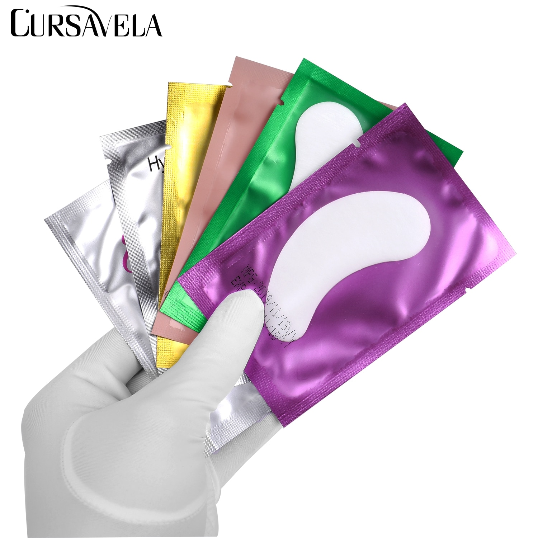 Cursvela накладки для глаз накладки для наращивания ресниц под ресницами бумажные наклейки накладные ресницы изоляционные наклейки