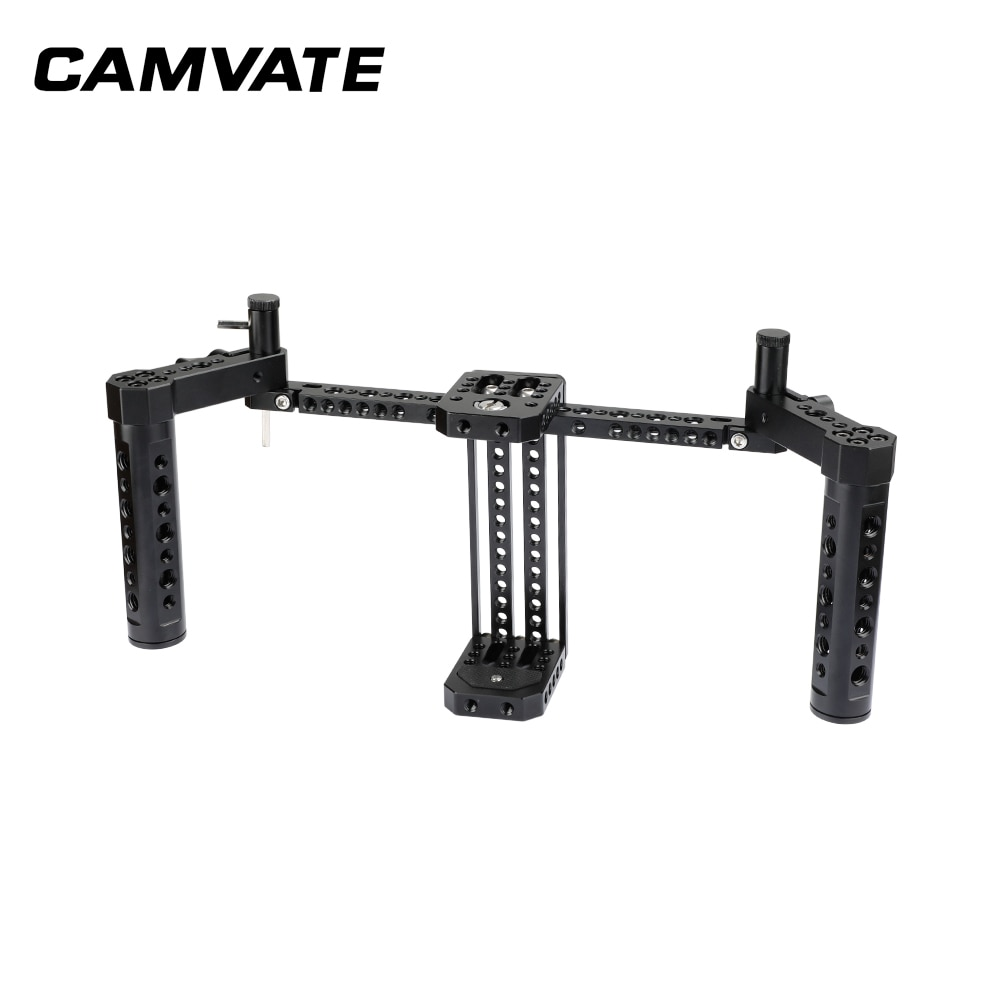 CAMVATE Director's Monitor Cage Rig With Adjustable Cheese Handgrip For  5