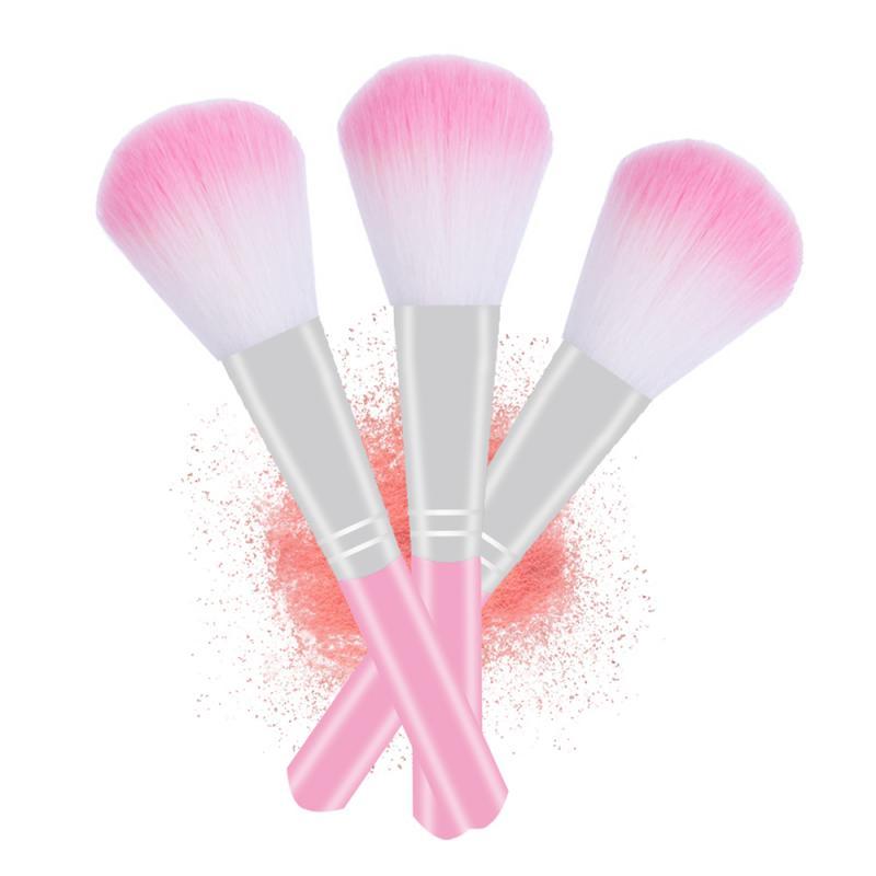 Rosa maquillaje cepillo para la Fundación polvo Blush de sombra de ojos corrector labial brocha de maquillaje de ojos cosméticos herramienta de belleza, Maquiagem