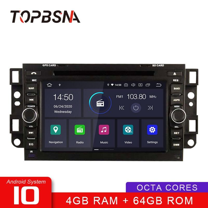 TOPBSNA Android 10 Car DVD Player For Chevrolet Aveo Epica Captiva Spark Optra Tosca Kalos Matiz GPS Stereo 2 Din Car Radio Auto