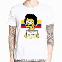 New Narcos King Of Coke Pablo Escobar Men's T Shirt StreetwearT-shirt Casual Hip Hop Tees TShirt Funny Cool Tops Plus Size