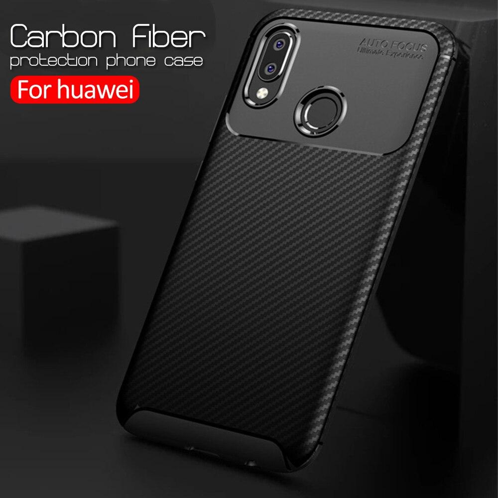 Роскошный армированный силиконовый чехол из углеродного волокна для huawei honor 10 lite 20 light honer 10i 20i 20s 9x8x8s 8a, чехол для телефона