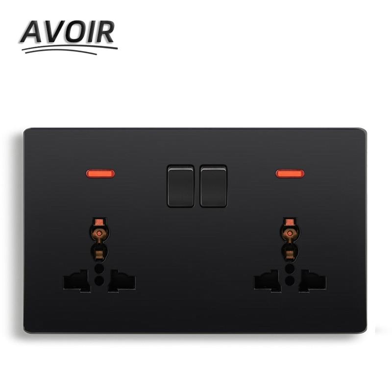 Enchufe Universal Avoir estándar 3 agujeros 5 agujeros toma de corriente pared...