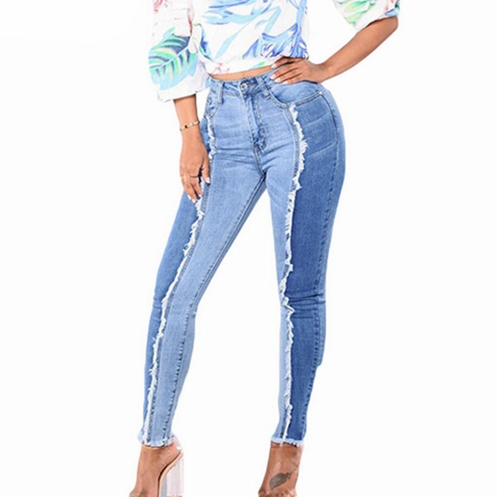 Women Denim Pants Slim Leggings Fitness Plus Size Leggins Length Jeans Corset Slim High Elastic Legg