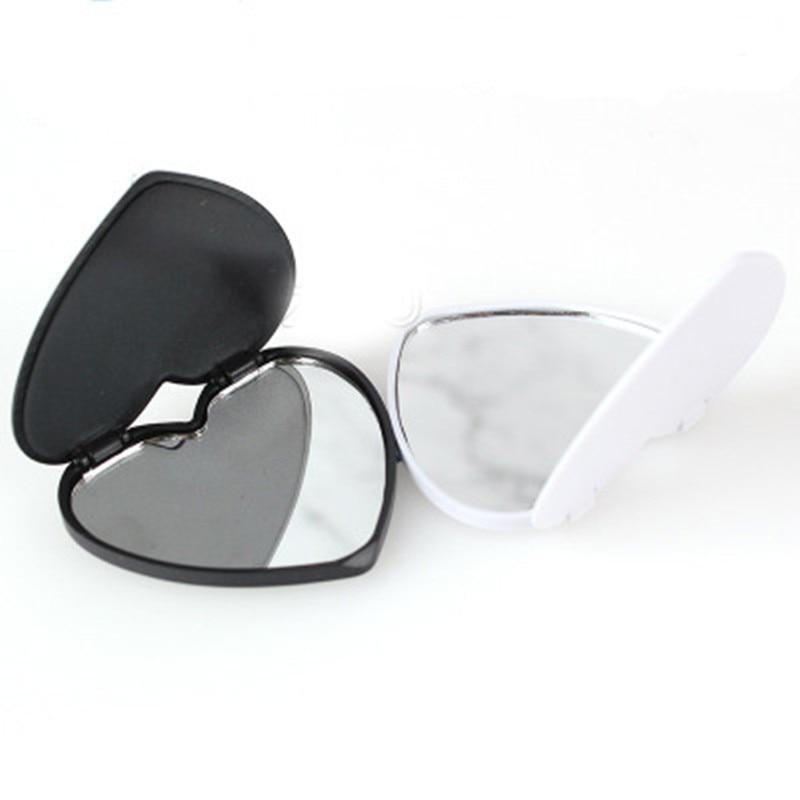 Espejos en blanco con corazón de 10-100 Uds., soporte plegable para teléfono móvil, soporte para teléfono