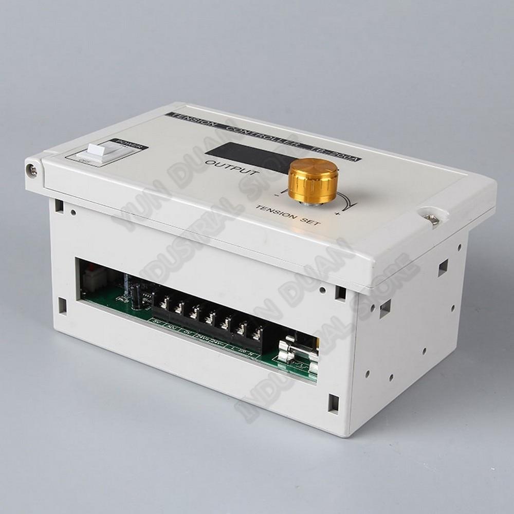 50Nm 5kg DC 24V Hollow Shaft  Magnetic Powder Brake & Manual Tension Controller Kits for Printing Packaging Peritoneal Machine