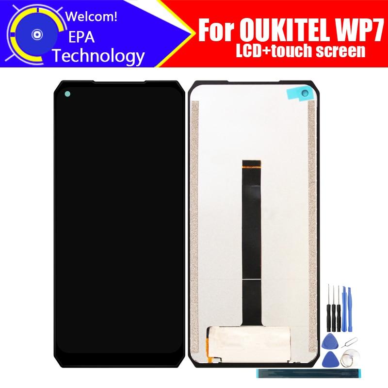 OUKITEL WP7-شاشة LCD 6.53 بوصة + مجموعة المحولات الرقمية لشاشة تعمل باللمس, شاشة LCD جديدة أصلية 100% ٪ + محول رقمي للعمل باللمس لـ WP7 + الأدوات