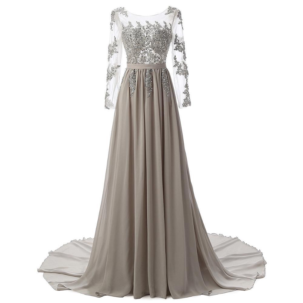 Nuevos vestidos largos De Madre De la novia, apliques con cuentas formales, vestidos De invitados De boda, vestido Formal De graduación De encaje, vestido elegante De noche