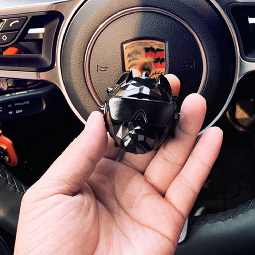 Novo bulldog carro ambientador perfume clipe fragrância difusor aberturas de automóveis perfume parfum bulldog difusor decoração do carro