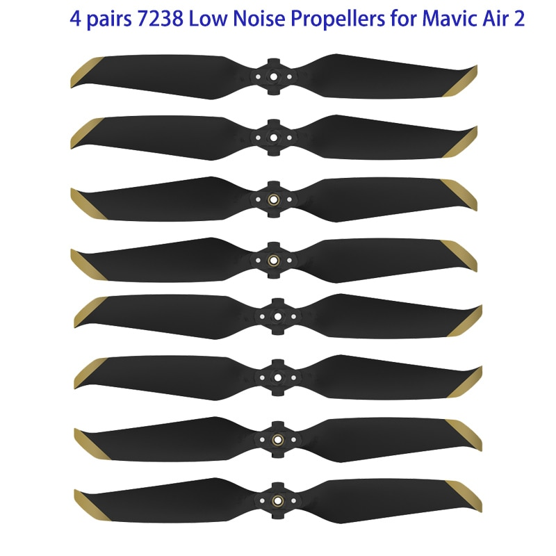 4 pairs 7238 Low Noise Props 7238F Propellers For DJI Mavic Air 2/DJI AIR 2S Drone Accessories