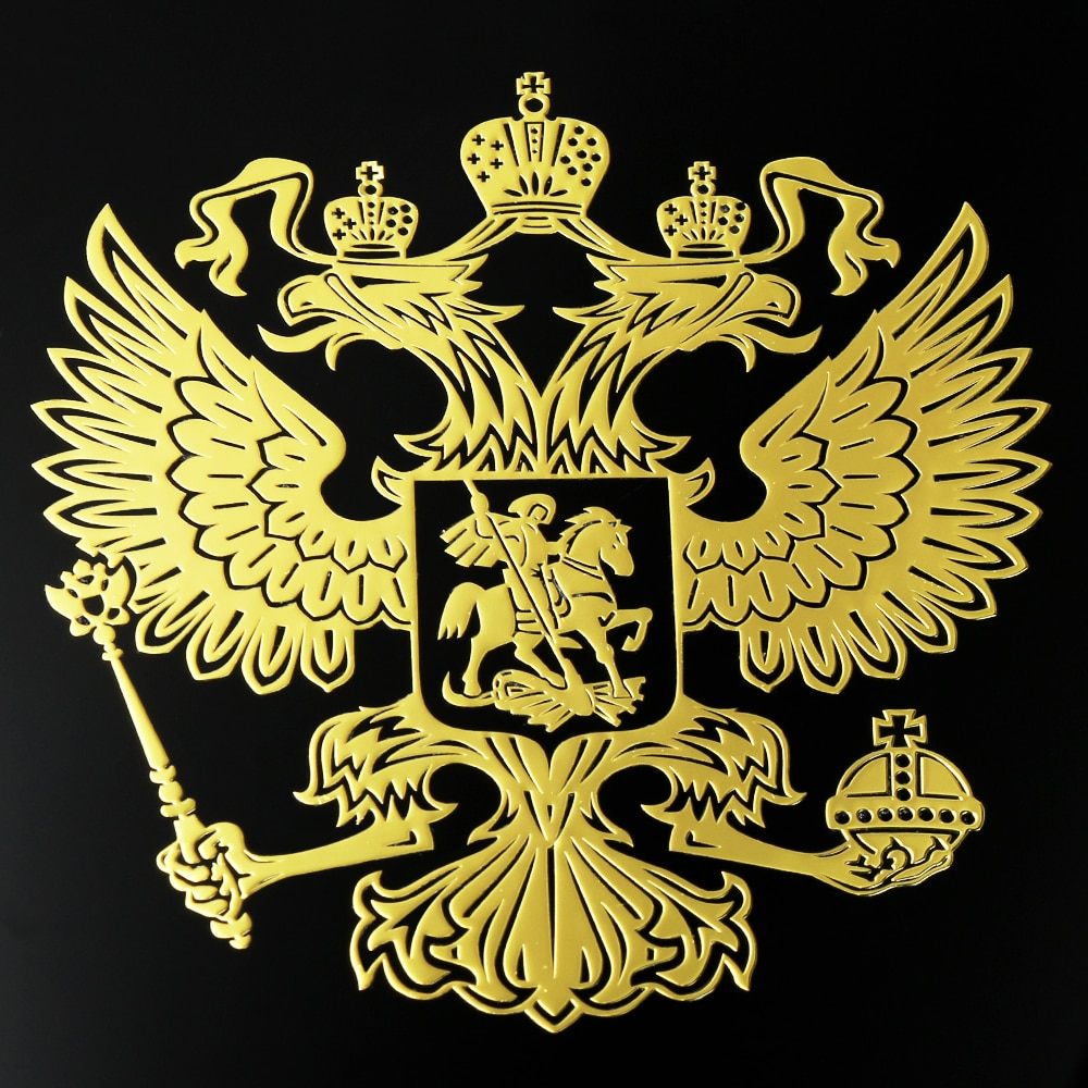 Rússia águia emblema adesivo decalques para chevrolet cruze equinox captiva camaro impala gmc terreno trax aveo sonic orlando niva