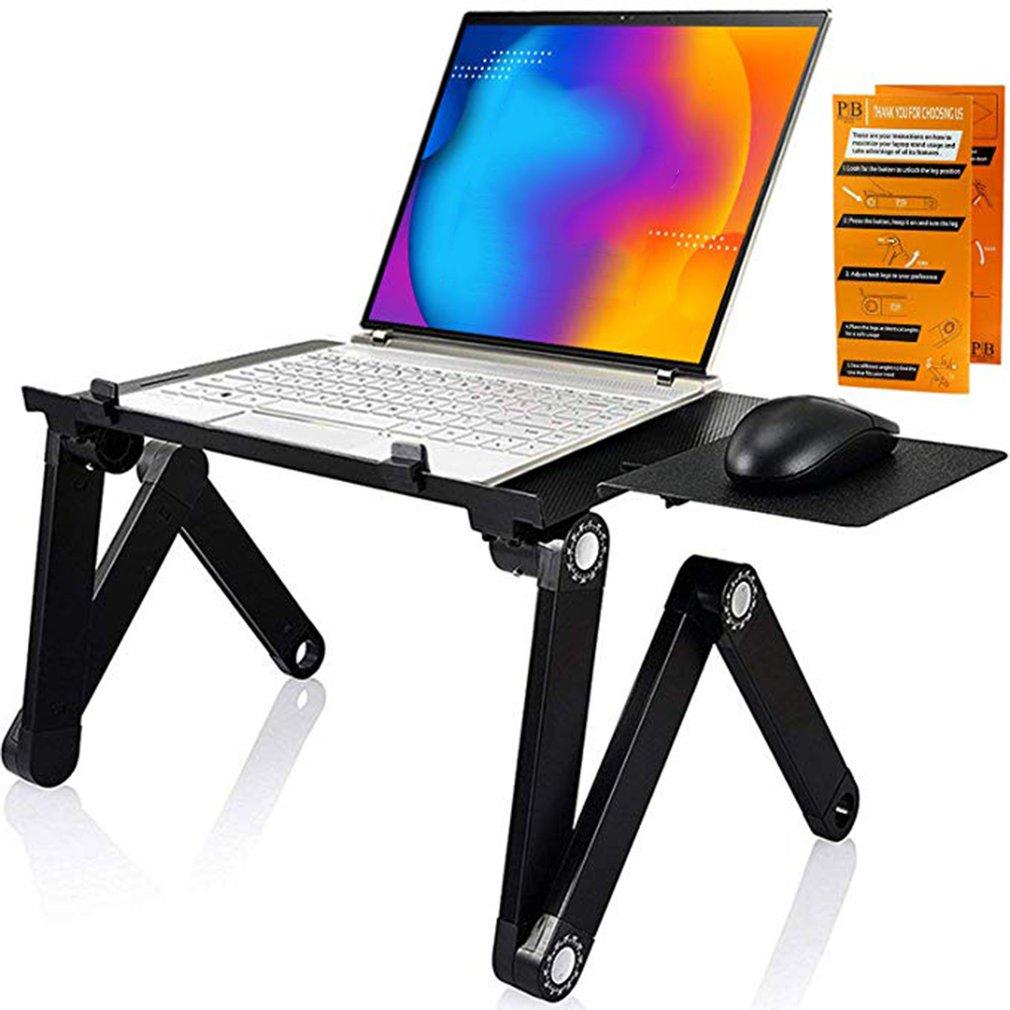 Table pliante réglable pliable portative avec le panneau de souris pour le plateau de support dordinateur Portable de bureau dordinateur Portable pour le canapé-lit