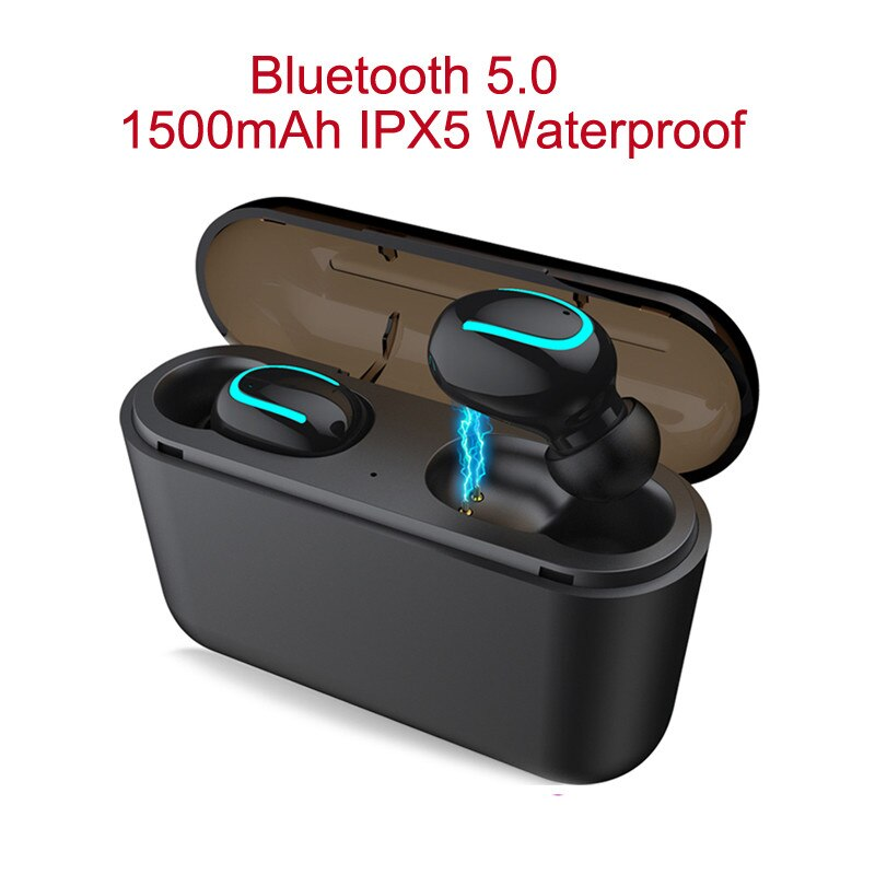 Q32 Wireless Headphones Stereo Bluetooth Earphone Touch Control Headset Sports Waterproof Earbuds wi