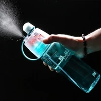 new 400600ml 4 color solid plastic spray cool summer sport water bottle portable climbing outdoor bike shaker my water bottles