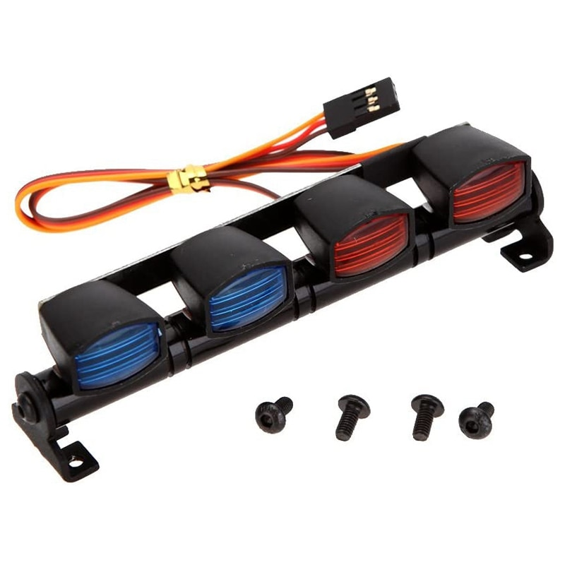 Multi-Function Ultra Bright LED Lamp Roof Light Bar with 4 Spotlights for 1/10 1/8 RC Car HSP TAMIYA CC01 Axial SCX10 enlarge
