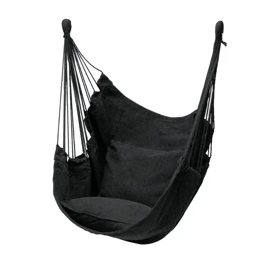 Кресло-качели для гамака, утолщенное подвесное качели, портативное, для релаксации, из холщовой ткани, для отдыха на открытом воздухе, путеш...