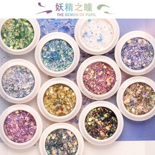 12 Colors Sequin Glitter Gel For Face Eye Nail Eye Shadow Diamond Glitter Shimmer Shiny Mermaid Nail