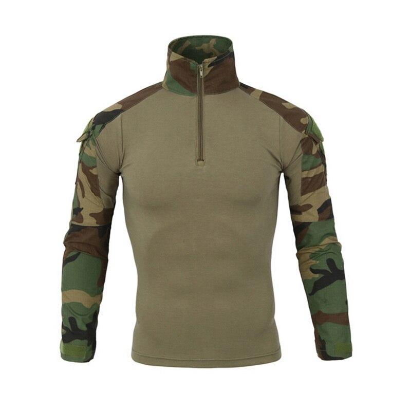 CYSINCOS Camisolas Rápida Assalto Tático Militar Camuflagem Uniforme de Combate-Comprovada Batalha Longa Camisa de Manga