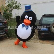 Pingouin mascotte Costume Halloween Cosplay fantaisie tenue Animal pingouin avec chapeau dessin animé mascotte Costumes taille adulte
