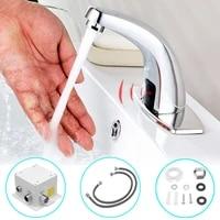 Robinet de salle de bains a infrarouge automatique  mains libres sans contact  robinet de lavabo electrique inductif  economie deau froide