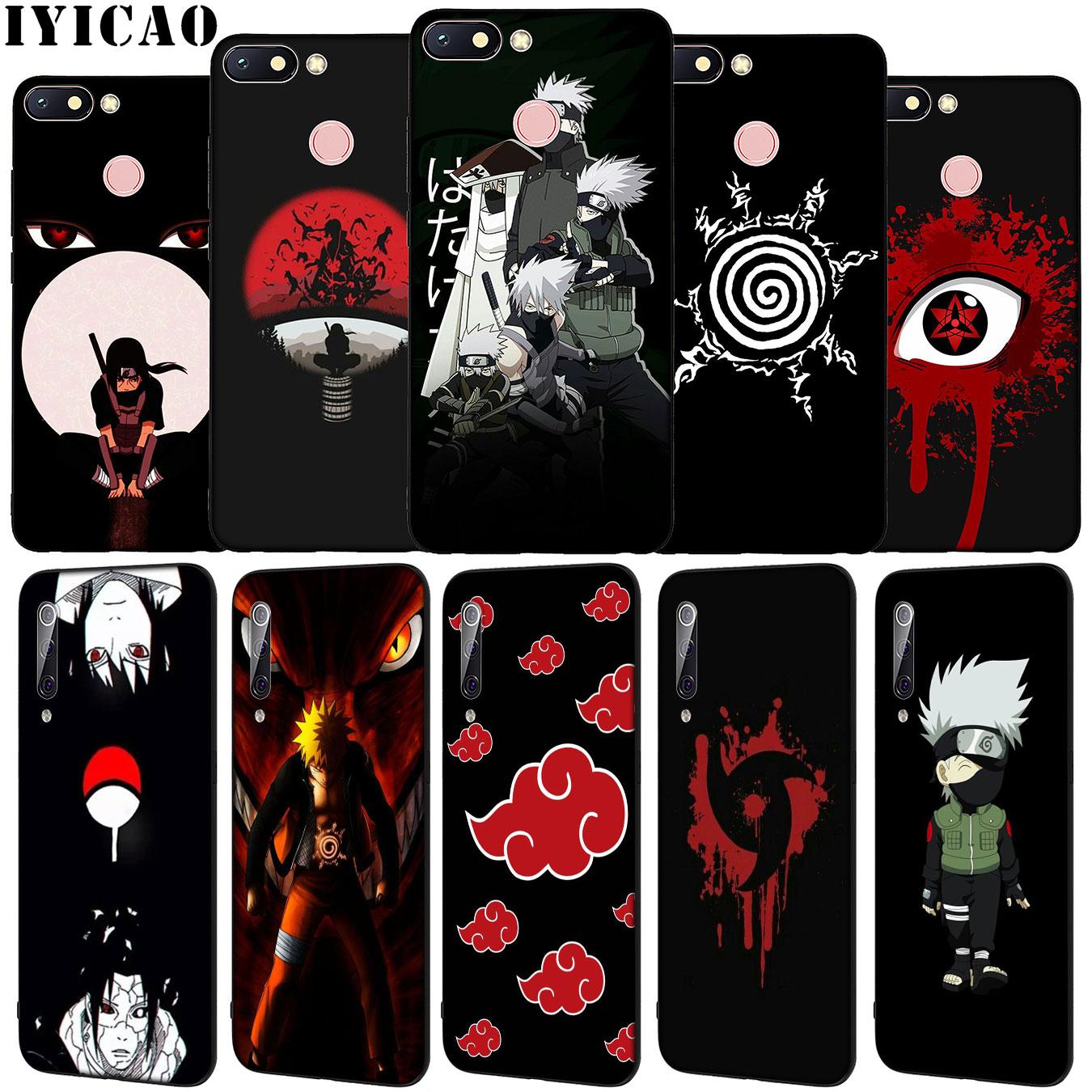 Naruto Uchiha Sasuke Anime Soft Silicone Phone Case for Xiaomi Redmi Note 8 8T 8A 7 7A 6 6A 5 5A GO S2 K30 K20 Pro Black Cover