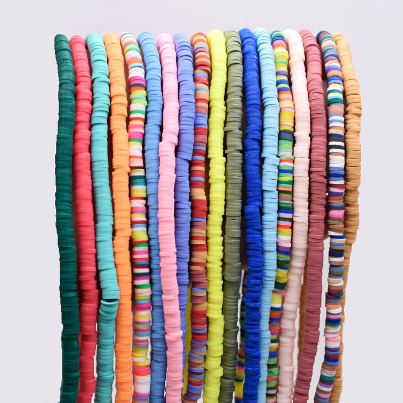 AliExpress - 5mm  Flat Round Handmade Polymer Clay Beads multi colors Clay Chip Disk Loose Spacer Beads For Jewelry Making DIY Necklace