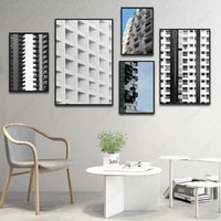 nordic light luxury architecture poster modern city landscape canvas painting home decoration wall art murals living room decor