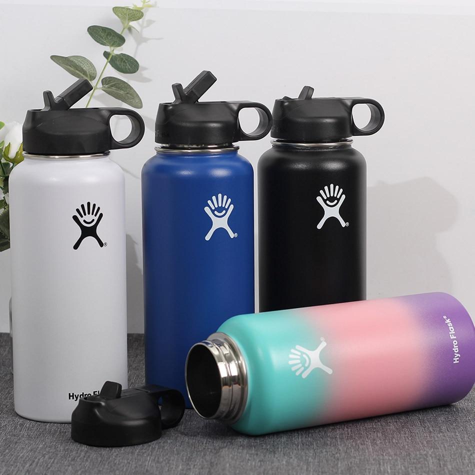 Hydro Flask 32oz Sports Water Bottle 40oz Hydro Flask Stainless Steel Insulated Water Bottle  Hydro Flask Straw Lid