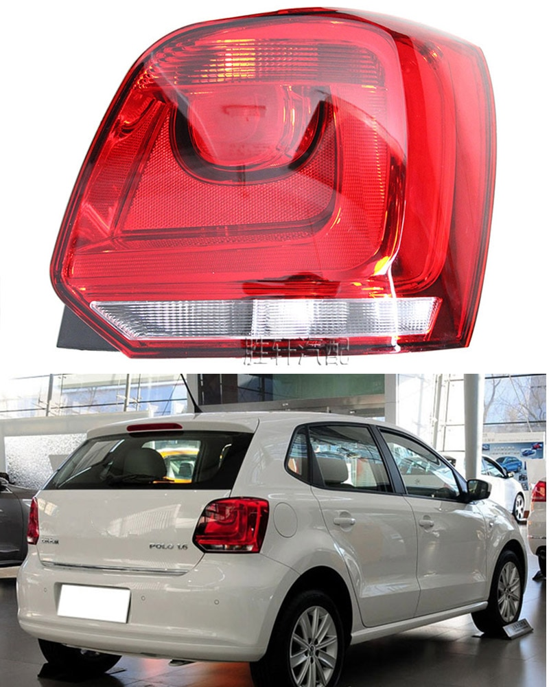 For VW Polo POLO 11 taillights rear taillights brake and turn indicator lights semi-assembly lamp housing
