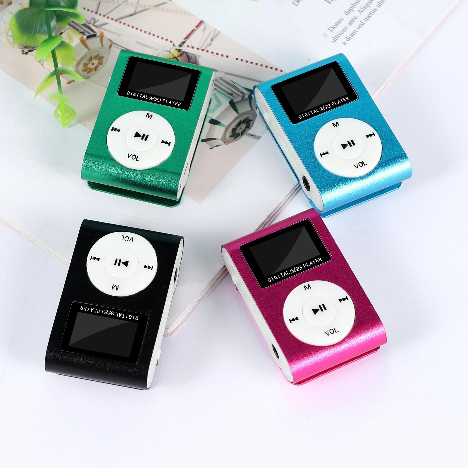 Mini MP3 player Portable Clip MP3 Music Player Support 32GB Micro SD TF Card LCD screen Fashion Spor