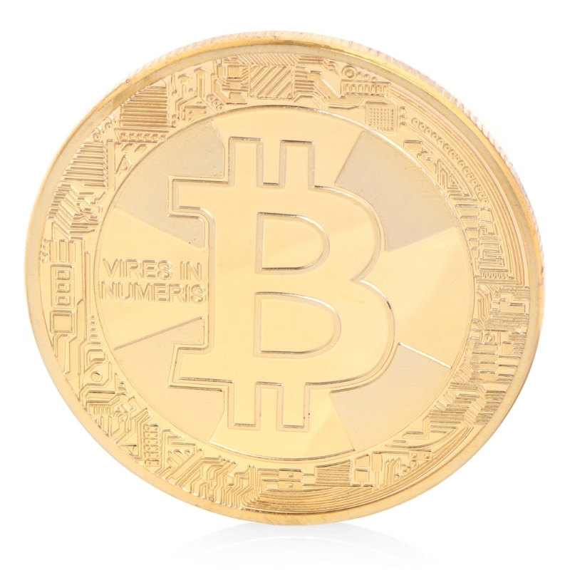 Cobre chapeado bitcoin btc moeda collectible presente coleção de arte lembrança física