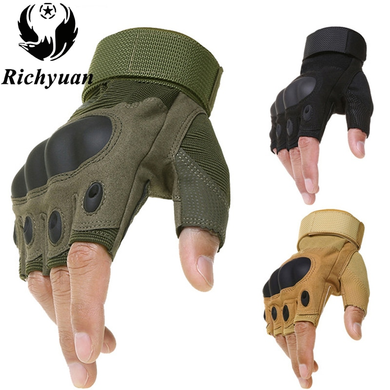 Outdoor Tactical Gloves Airsoft Sport Gloves Half Finger Type Military Men Combat Gloves Shooting Hu