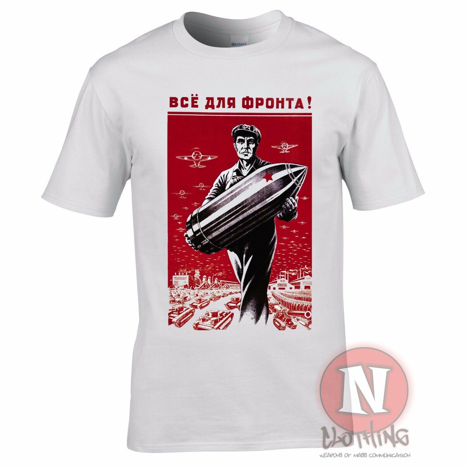 La guerra mundial 2 propaganda rusa camiseta de la historia militar de la Segunda Guerra Mundial munición soviética WW2