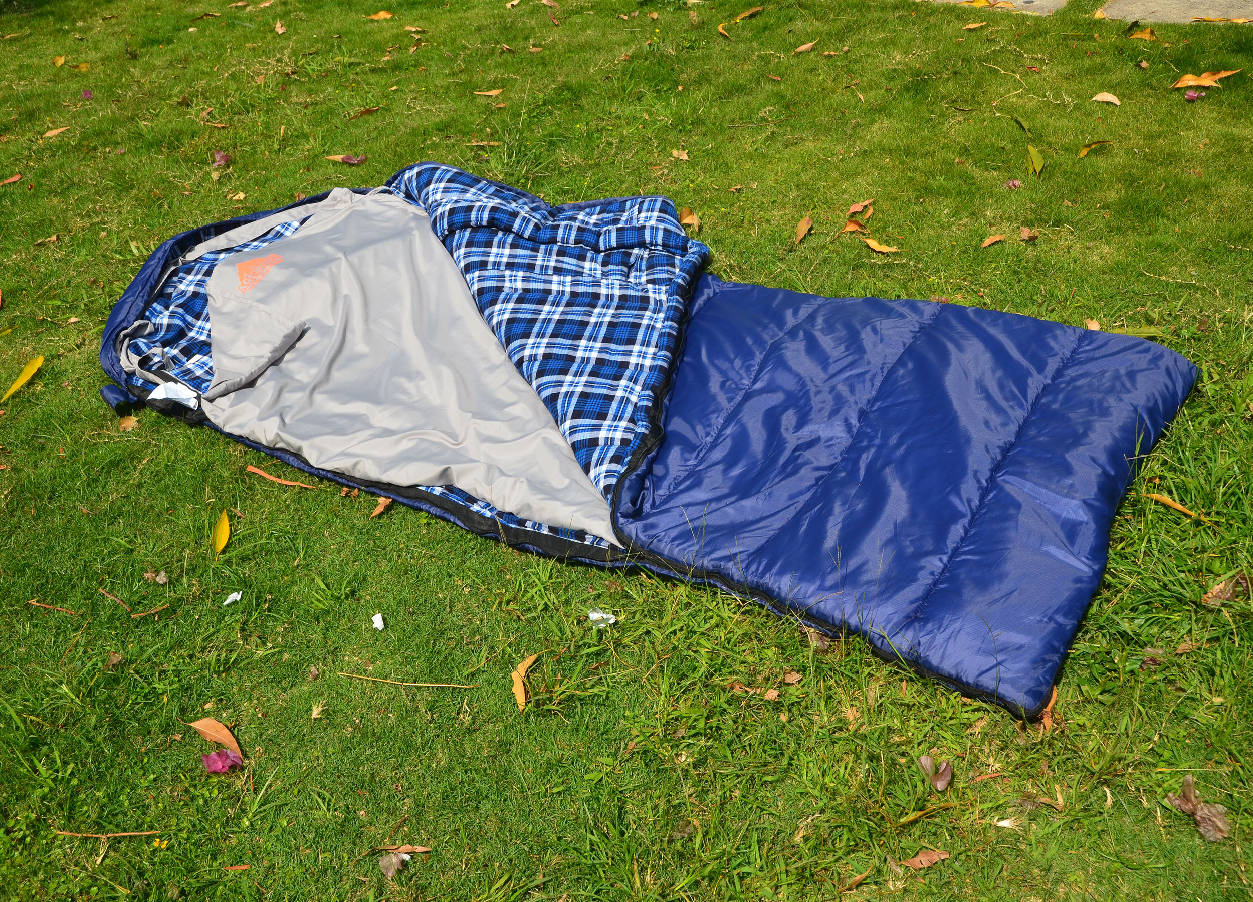 Flannel Heated Sleeping Bag Liner Thermolite Ultralight Camping Travel Winter