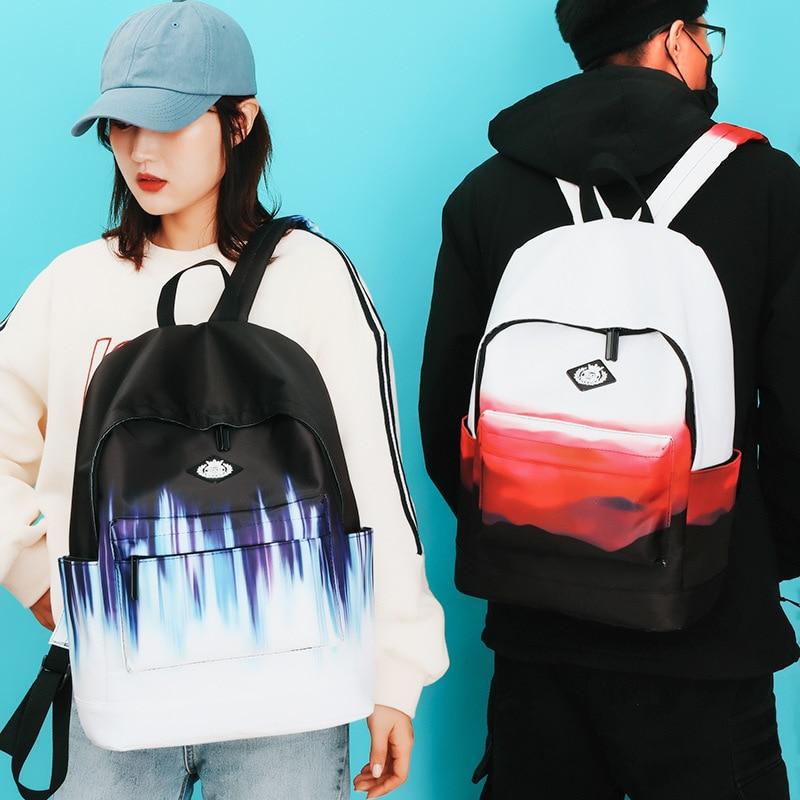Colorido mochila de Mujeres de moda gran escuela mochila para niñas adolescentes viajes ocasional de impresión de mochila