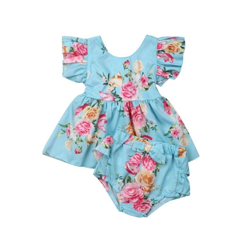 Imcute/милый летний комплект с принтом для маленьких девочек, жилет Топ с оборками, платье, шорты для новорожденных, одежда для детей, одежда дл...