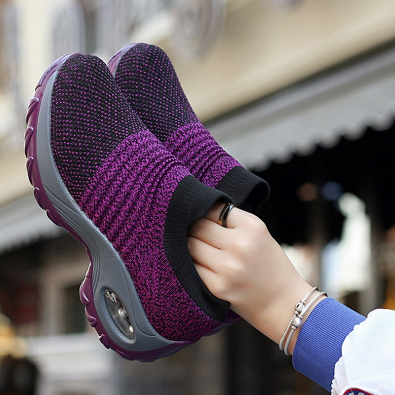 HEFLASHOR New 2020 Summer Women Sneakers Fashion Breathable Mesh Casual Shoes Platform Sneakers For